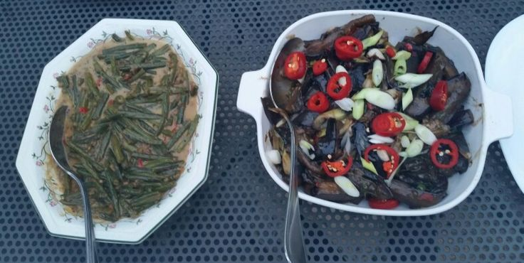 #thai greenbeans & aubergine