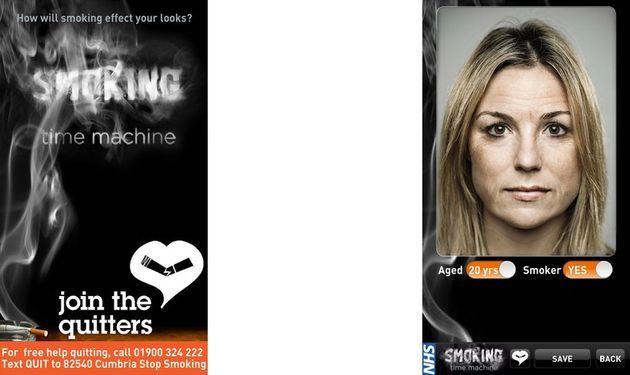 Smoking Time Machine, descubre cómo será tu rostro por los efectos del tabaco (Android e iOS)