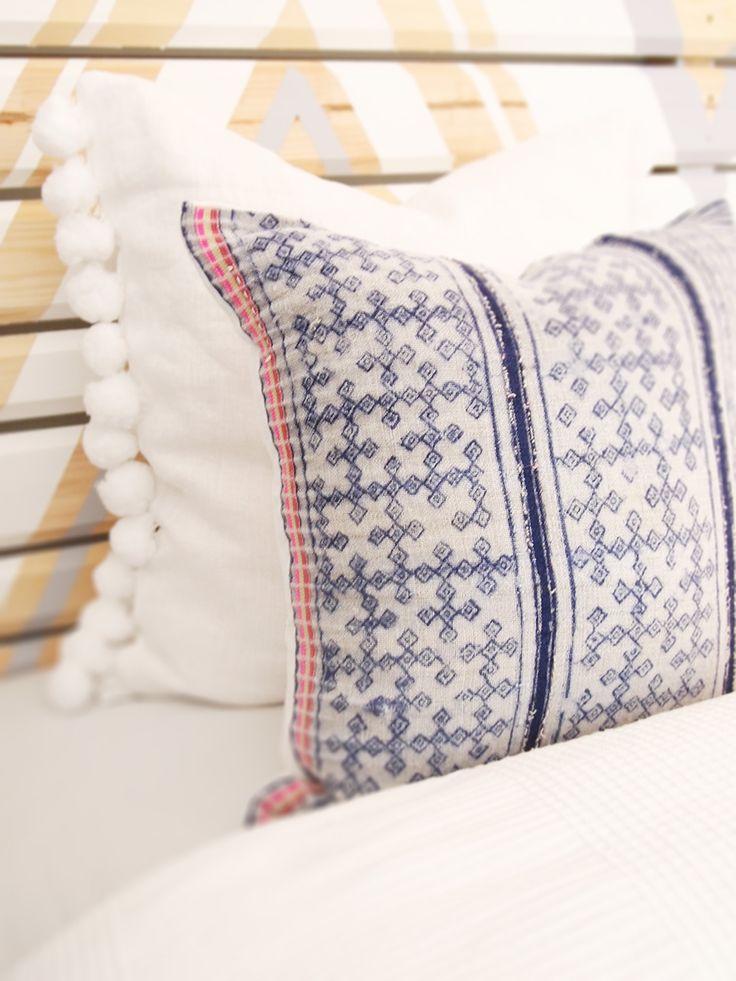 Vintage Hmong Batik-tyynynpäällinen 40x40cm