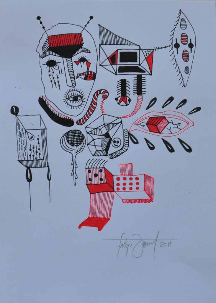 No title / technic: ink on paper / 21x29.7 cm / 2011 Artist: Fülöp József