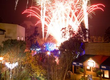 Winter Wonderland Breaks at Center Parcs.  Fireworks over the Village Square