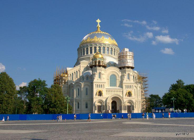 Кронштадт Якорная площадь церковь храм