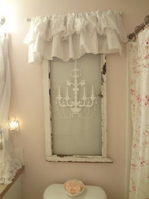 DIY:: Salvaged Window used as Fake window--in small spaces...Love this!