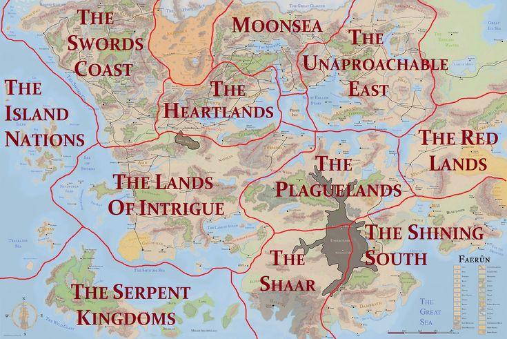 5e Faerun Forgotten Realms Map