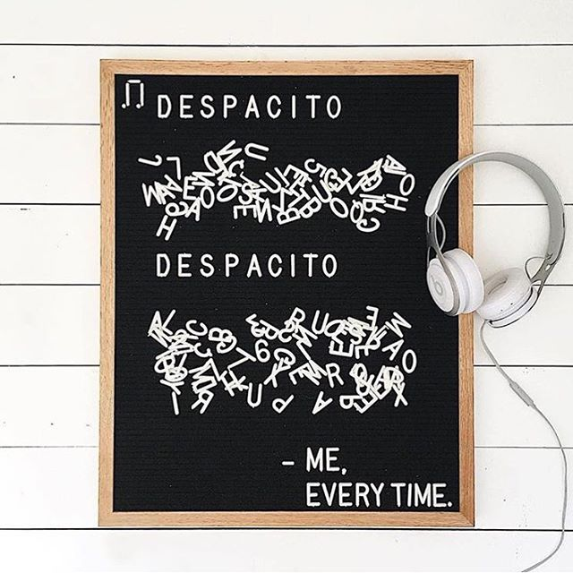 Devoting the weekend to learning at LEAST the chorus and maybe part of the bridge but I def got the FAVORITO FAVORITO BAYBAYYYYY ab lib down (letterboard by @letterfolk!)