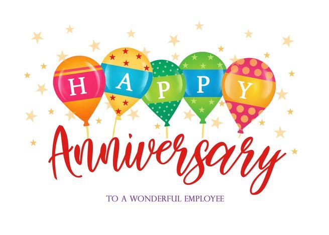 Happy Balloons Business Employee Anniversary Card Ad Ad Business Balloons Happy Card Employee Anniversary Cards Anniversary Cards Happy Balloons