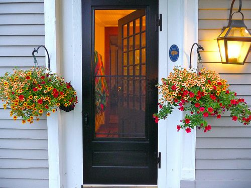 welcoming door. great idea for doors with a lot of natural light.