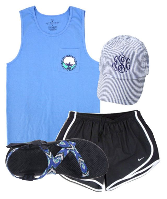 """""""Preppy otd"""" by christyaphan ❤ liked on Polyvore featuring NIKE and Chaco"""