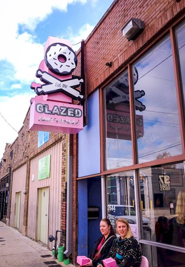 Glazed Donut Works in Deep Ellum brings the quality and the flavor. Link through about the neighborhood at cw33.com by @realdealdallas.