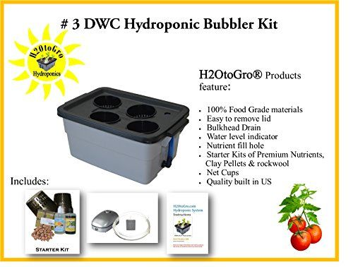 Complete Hydroponic System Dwc Bubbler Kit 3 4 H2Otogro 400 x 300