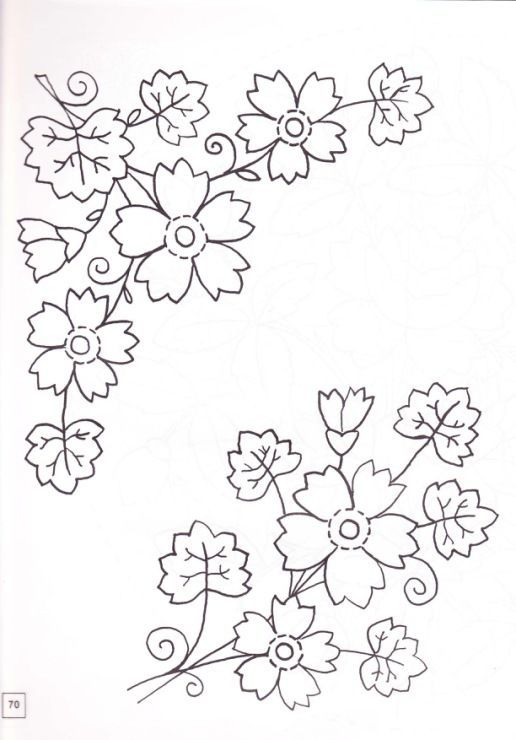 redwork flowers