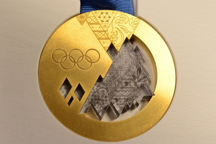 The Sochi gold medal. (Getty Images)