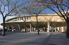 Estación de trenes de Santa Justa    es la estación central de viajeros de ferrocarril de Sevilla. Fue construida entre 1987 y 1991 para ser origen de la primera línea española de trenes de Alta Velocidad Española (AVE), que comunica Sevilla y Madrid desde 1992 y absorber los servicios ferroviarios que anteriormente ofrecián las estaciones de Plaza de Armas y de San Bernardo.