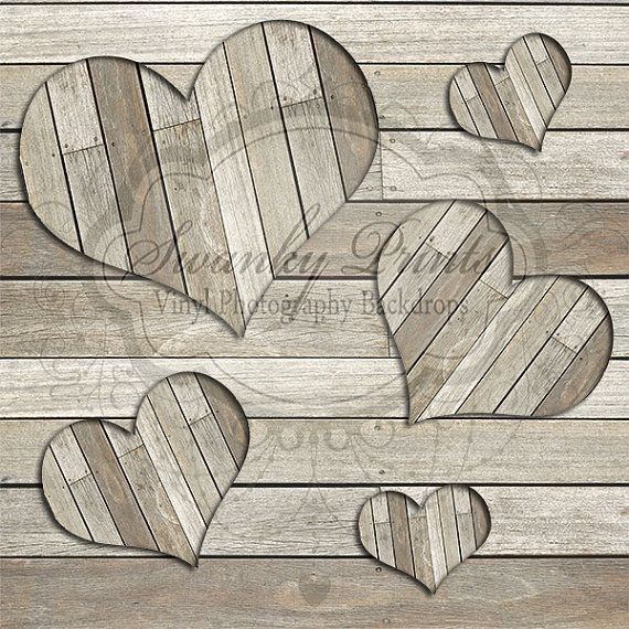 Valentines Dry Wood Hearts - Oz Backdrops and Props