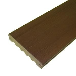 Decking 12 ft veranda brazilian walnut capped composite for Capped composite decking prices