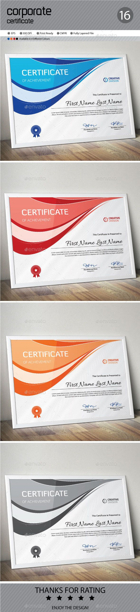 9 best certificate design images on pinterest certificate design certificate template vector eps download here httpgraphicriver yadclub Gallery