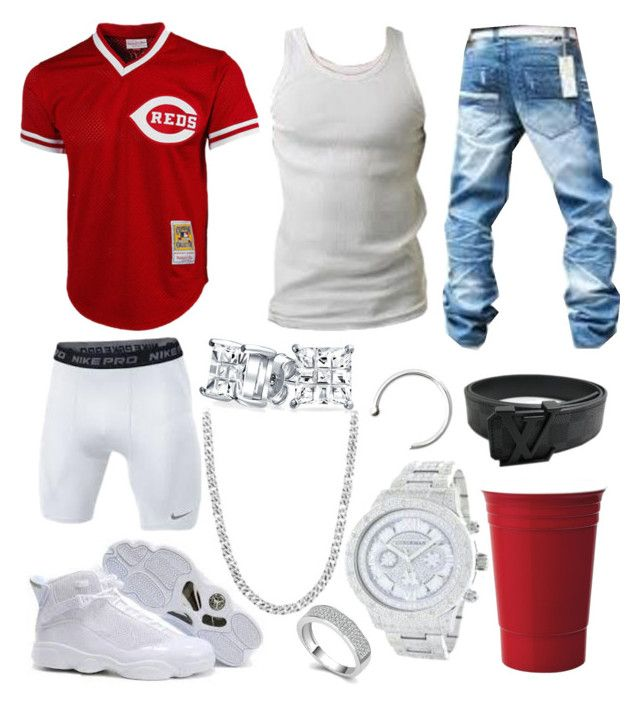"""BPB 3"" by blvcksymba on Polyvore featuring Louis Vuitton, Bling Jewelry, men's fashion and menswear"