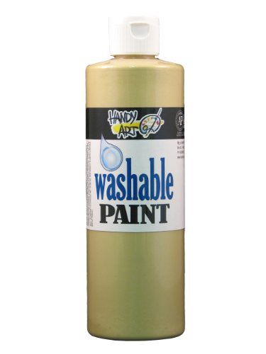 Handy Art by Rock Paint 211162 Washable Paint 1 Metallic Gold 16Ounce * Learn more by visiting the image link.