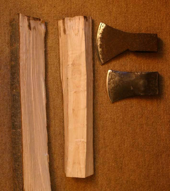 Making A Carving Knife: Axe Handle, Axe And Knives