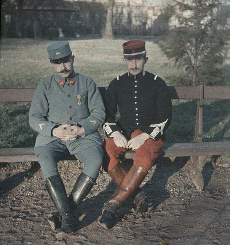 Two French Soldiers - Half of a Stereo Autochrome Slide by Photo_History, via Flickr