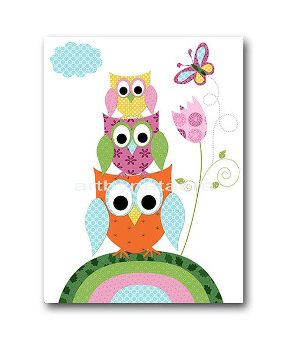 Owl Decor Owl Nursery Art for Children by nataeradownload on Etsy