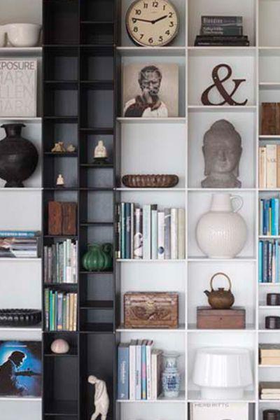 ABC Reoler: Quadrant   Hoge kast met uitspringend schap #boekenkast #design #abcreoler