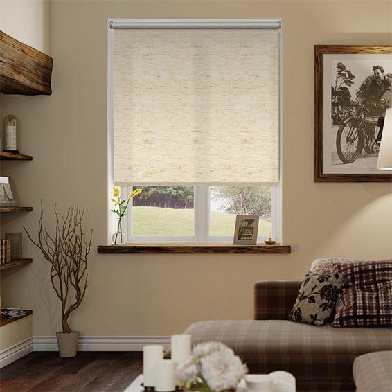 Simplicity Linen Natural Roller Blind from Blinds 2go
