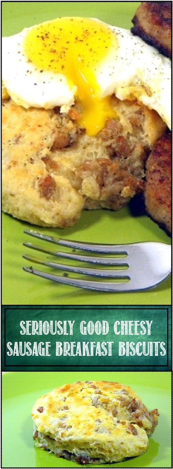 Inspired By eRecipeCards: Seriously GOOD Cheesy Sausage Biscuits