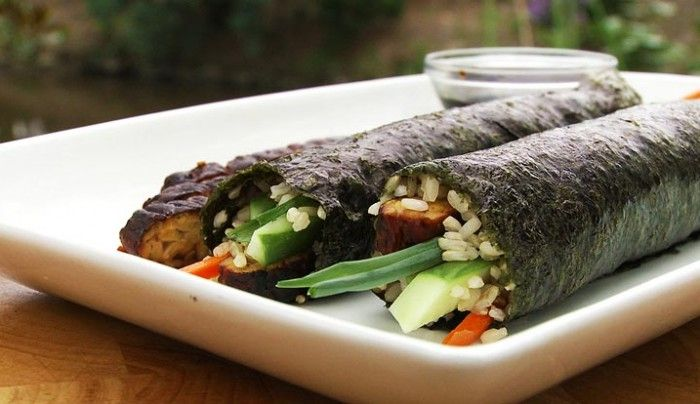 Brown Rice Tempeh Nori Rolls | Good Chef Bad Chef