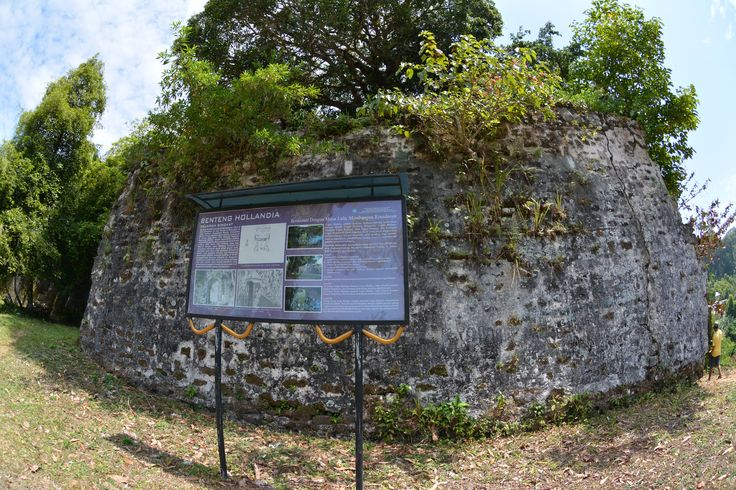 The remains of the external walls at Fort Hollandia, Banda Besar.