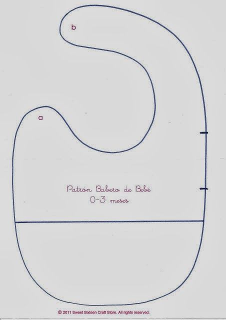 LO que HAGO en mi CASA: PATRONES DE BABEROS DIRECTAMENTE PARA IMPRIMIR (TELA Y PATCHWORK)