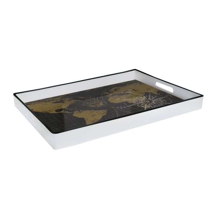 World Map Plastic Serving Tray