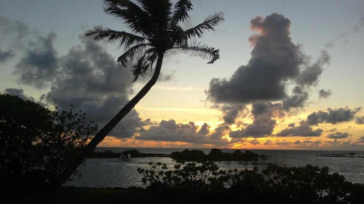 The first sunrise of 2013 at Four Seasons Resort Mauritius at Anahita