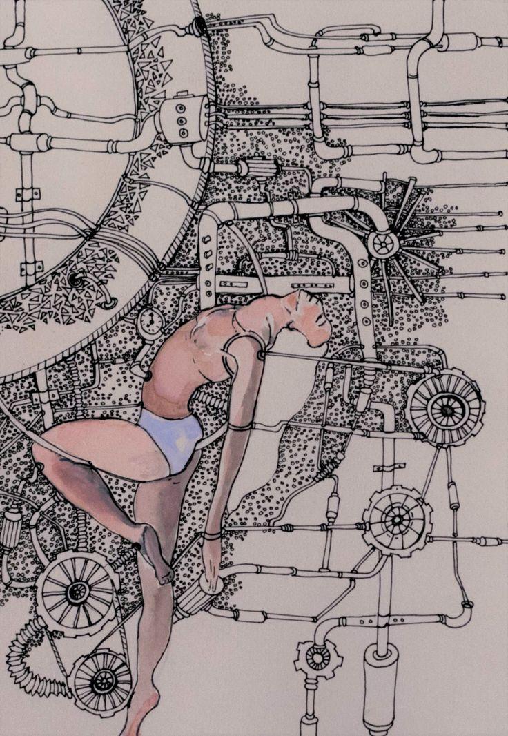 #cyberpunk #cyborgathletic #cyborg #technology #robotics #illustration #annadeligianni