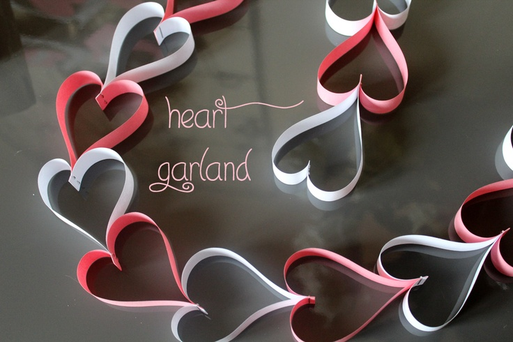 Heart garland for Valentine's day.
