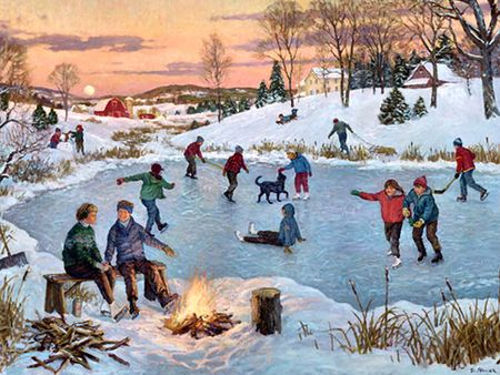 paintings of ice skaters - Google Search | Art | Pinterest ...