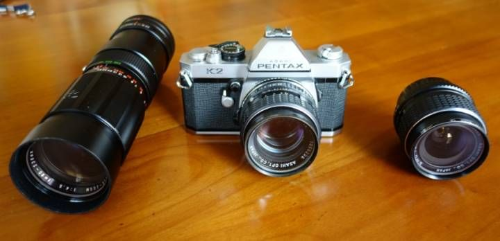 Appareil photo et objectifs Asahi Pentax K2 Vintage