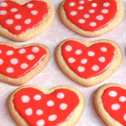 Minnie Mouse Polka Dot Cookies Recipe inspired by Minnie Mouse