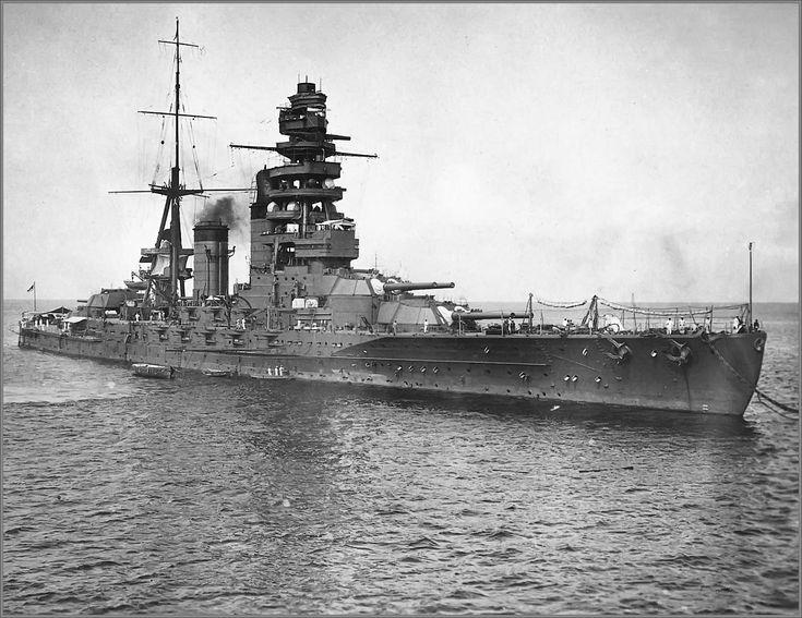 Imperial Japanese Navy battleship Nagato, Yokosuka, July 1924. M