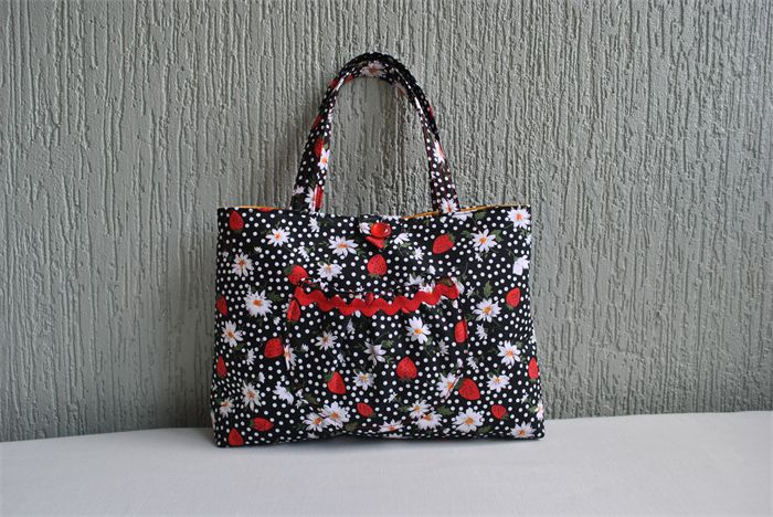 Clover - ladies strawberry and polka dot bag | Witching Hour | madeit.com.au