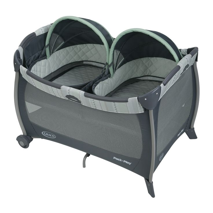 Graco Pack 'n Play Mason Multicolor/ Playard Napper with Twins Bassinet