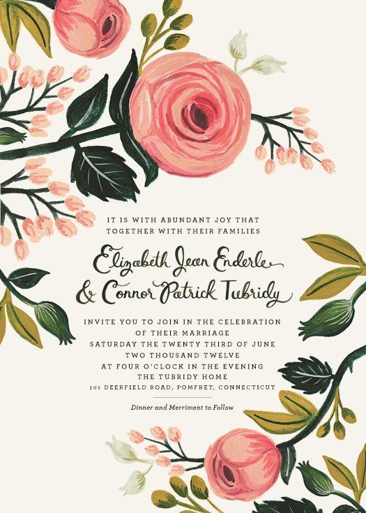 Best 25 wedding invitation wording ideas on pinterest wedding rifle paper co wedding invitation cardswedding stopboris Images
