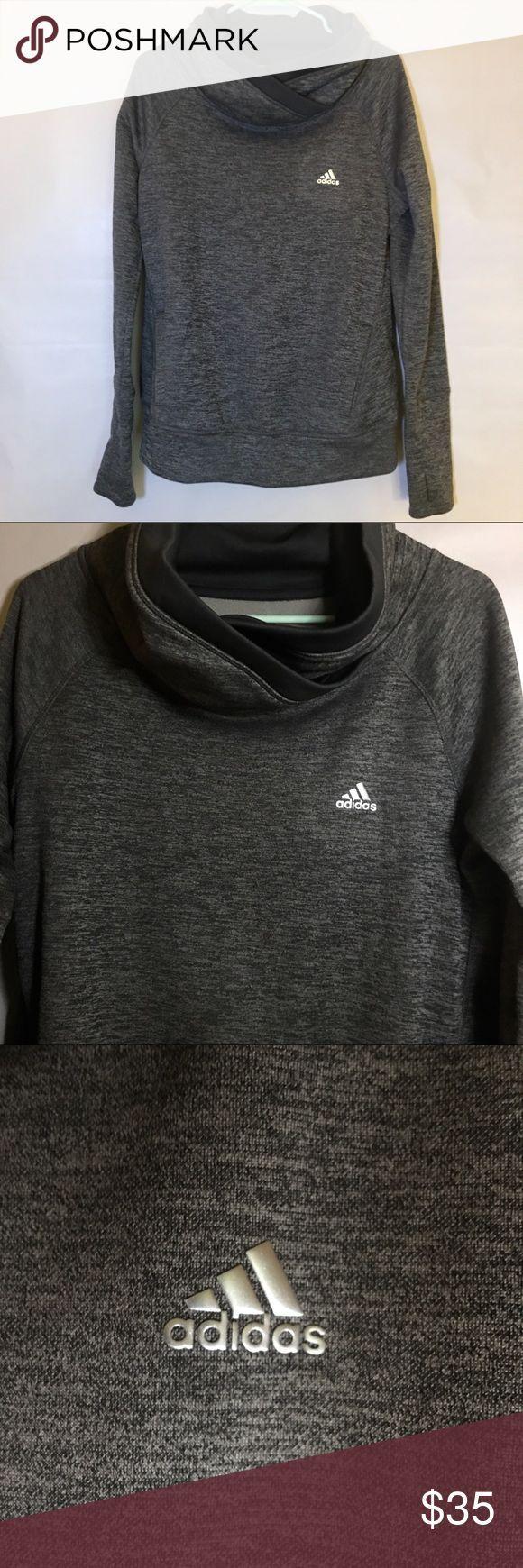 Adidas Cowl Neck Sweatshirt With Kangaroo Pocket Women S Space Dye Adidas Clim Cowl Neck Sweatshirt Sweatshirts Hoodies Womens [ 1740 x 580 Pixel ]