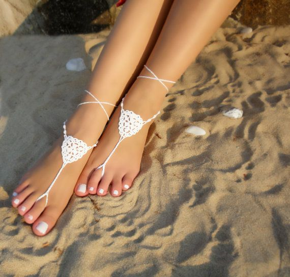 Hey, I found this really awesome Etsy listing at https://www.etsy.com/listing/483690503/white-bridal-barefoot-sandals-crochet