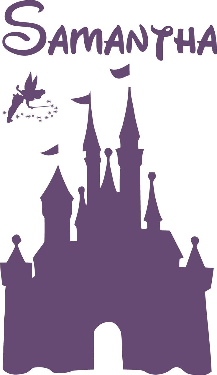 25 unique cinderella silhouette ideas on pinterest disney disney castle personalized name vinyl decal wall lettering words tinkerbell princess amipublicfo Gallery