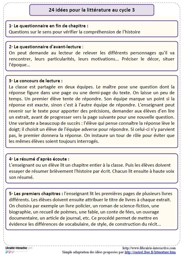 24 idées d'activités à mener en classe pour motiver les élèves à lire.