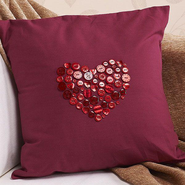Button Heart Cushion | Craft Ideas & Inspirational Projects | Hobbycraft