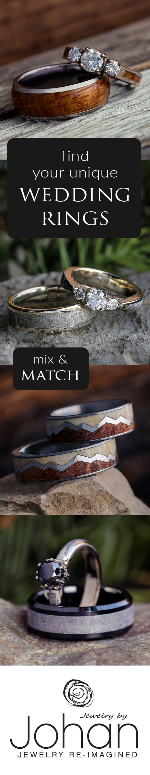 Discover hundreds of extraordinary wedding rings, or completely custom create your own wedding bands. Mix and match to create a ring set that is unique to your love story!