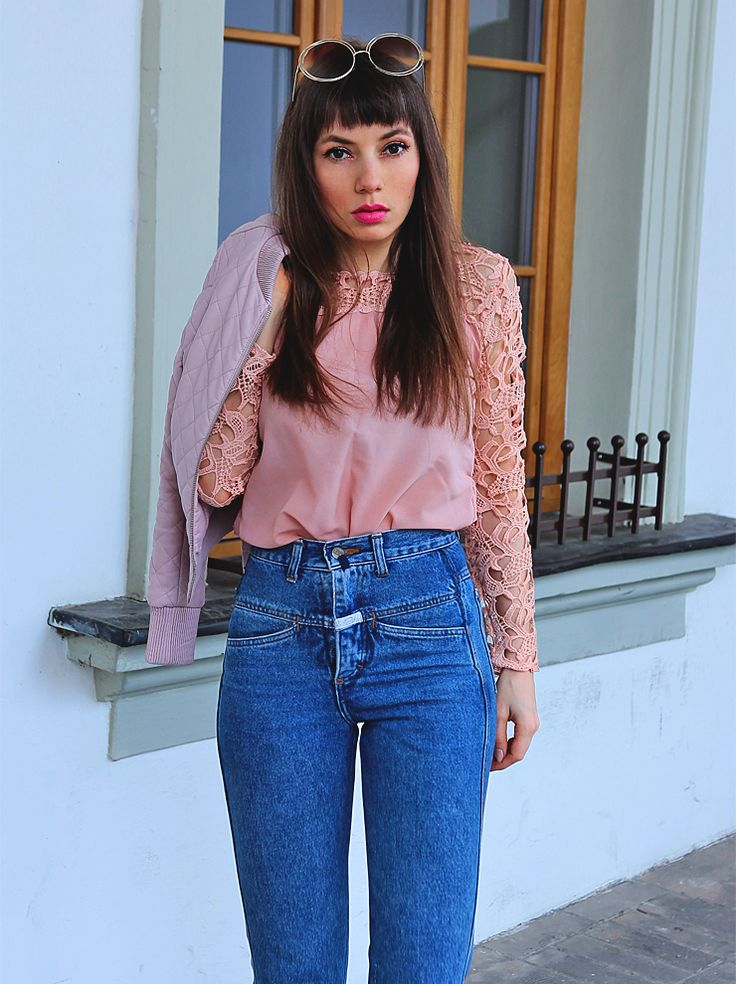 https://jointyicroissanty.blogspot.com/2017/03/pastel-pink-and-mom-jeans.html #ootd #streetstyle #fashionblogger