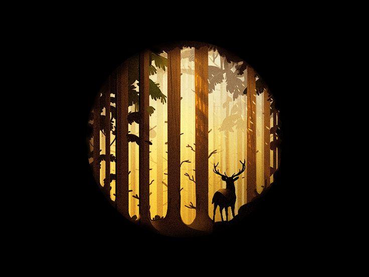 Deep Forest illustration shared via https://chrome.google.com/webstore/detail/design-hunt/ilfjbjodkleebapojmdfeegaccmcjmkd?ref=pinterest